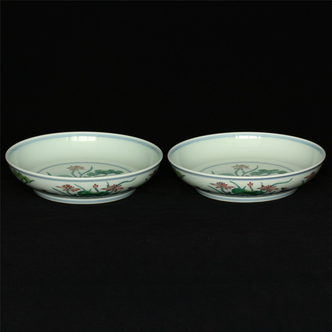Pair Doucai porcelain plates of Qing Dynasty YongZheng - 3