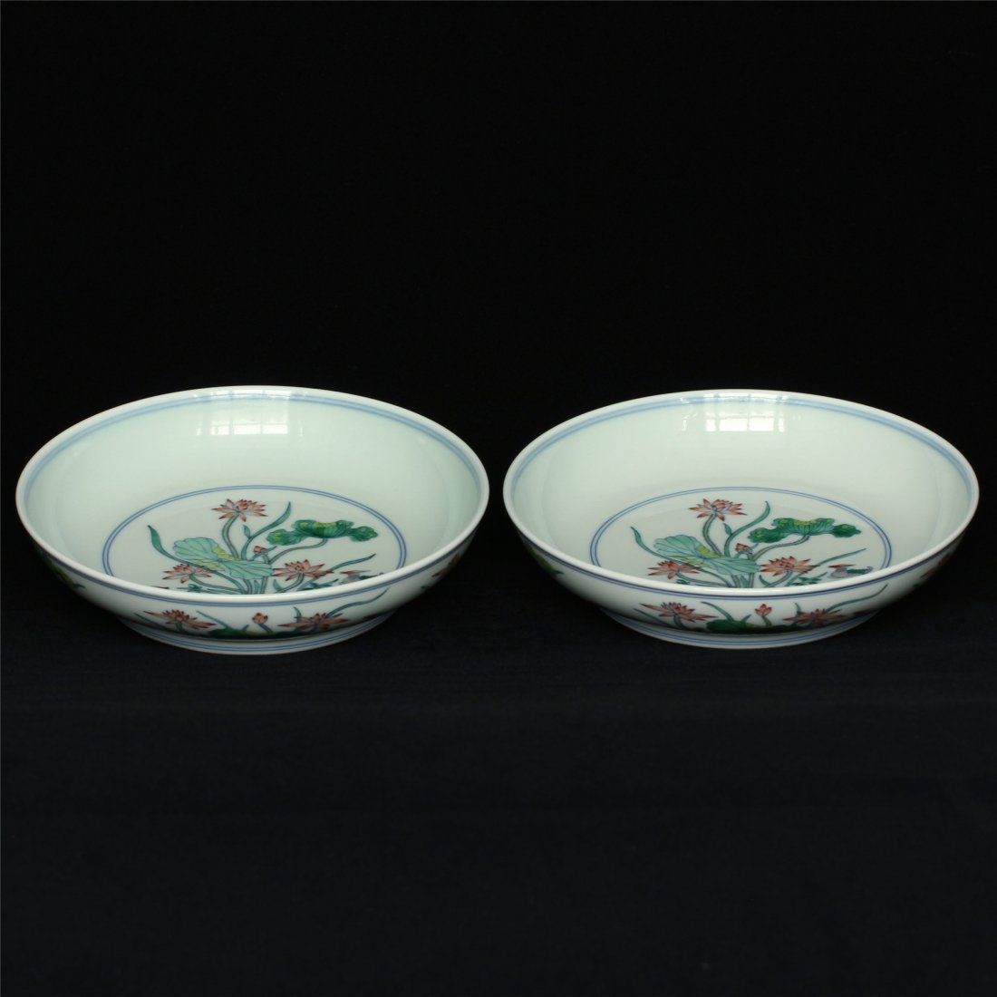 Pair Doucai porcelain plates of Qing Dynasty YongZheng - 4