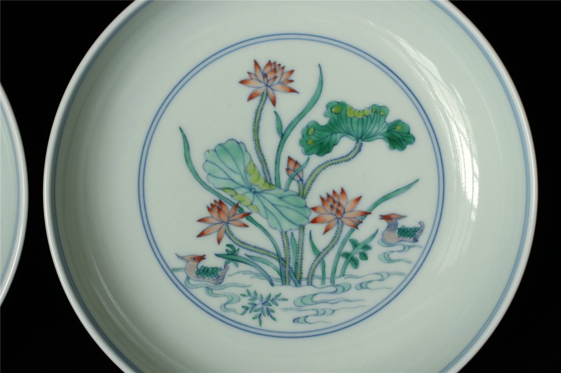 Pair Doucai porcelain plates of Qing Dynasty YongZheng - 5