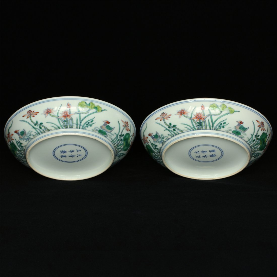 Pair Doucai porcelain plates of Qing Dynasty YongZheng - 6