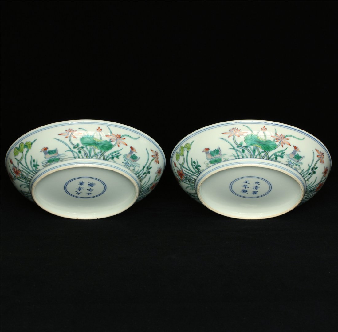 Pair Doucai porcelain plates of Qing Dynasty YongZheng - 7