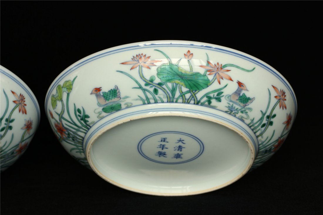 Pair Doucai porcelain plates of Qing Dynasty YongZheng - 8