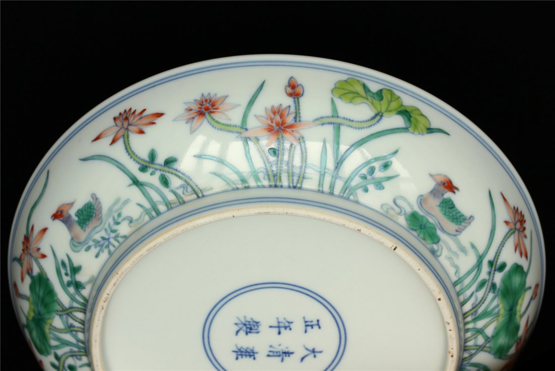 Pair Doucai porcelain plates of Qing Dynasty YongZheng - 9