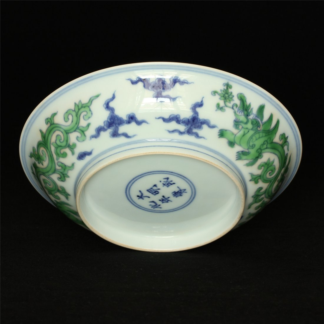 Doucai porcelain plate of Ming Dynasty ChengHua mark. - 10