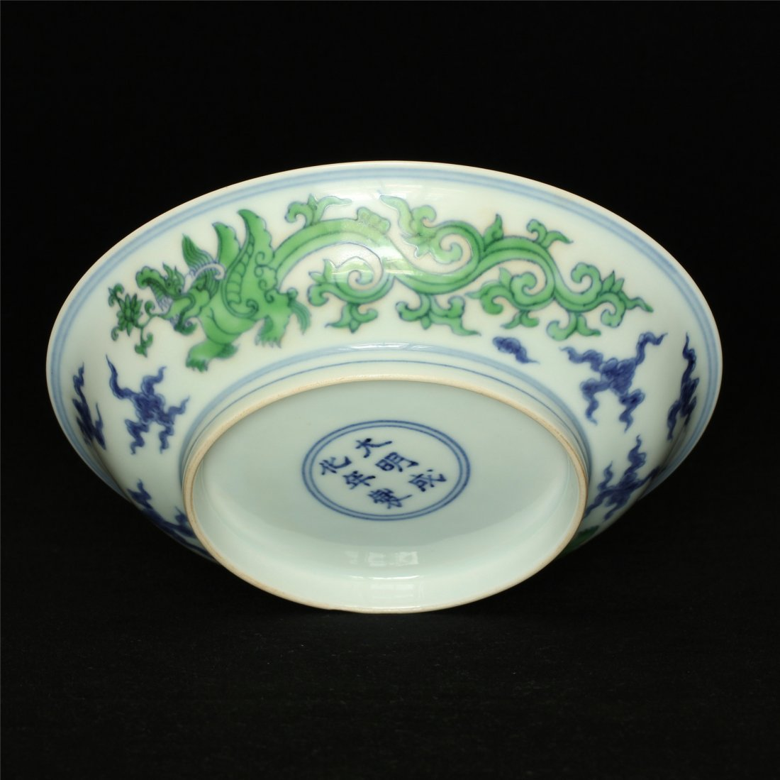 Doucai porcelain plate of Ming Dynasty ChengHua mark. - 6
