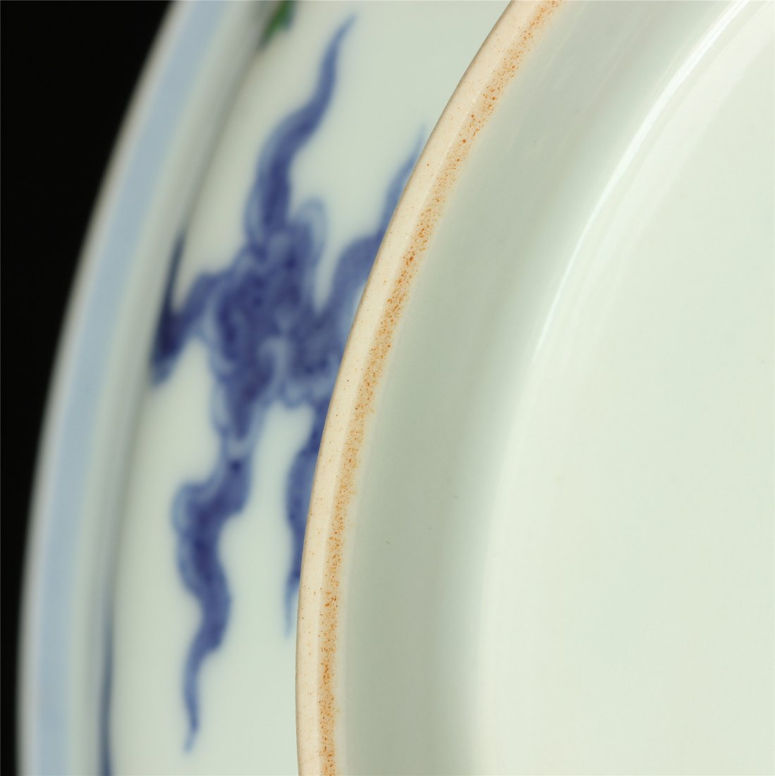 Doucai porcelain plate of Ming Dynasty ChengHua mark. - 8