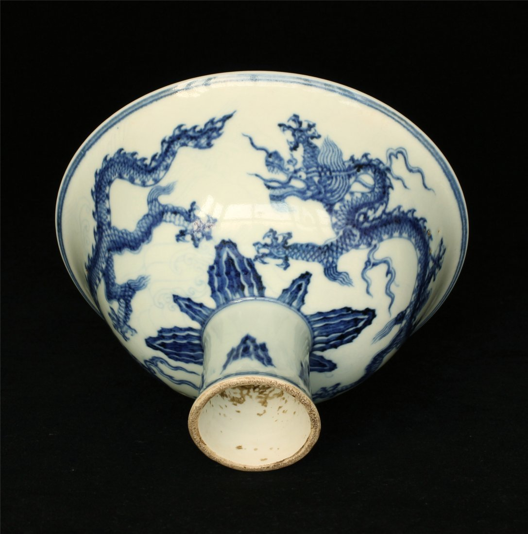 Blue and white porcelain chalice of Ming Dynasty XuanDe - 5
