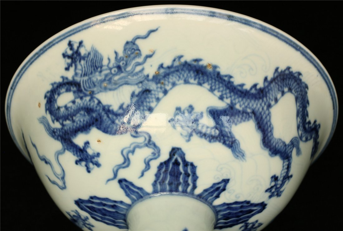 Blue and white porcelain chalice of Ming Dynasty XuanDe - 6