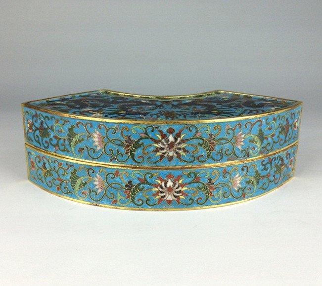 """Qing Dynasty """"QianLong"""" exquisite cloisonne gilt dragon"""