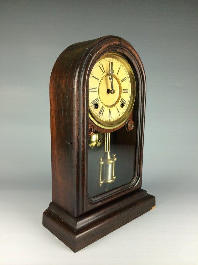 European antique mahogany clock.