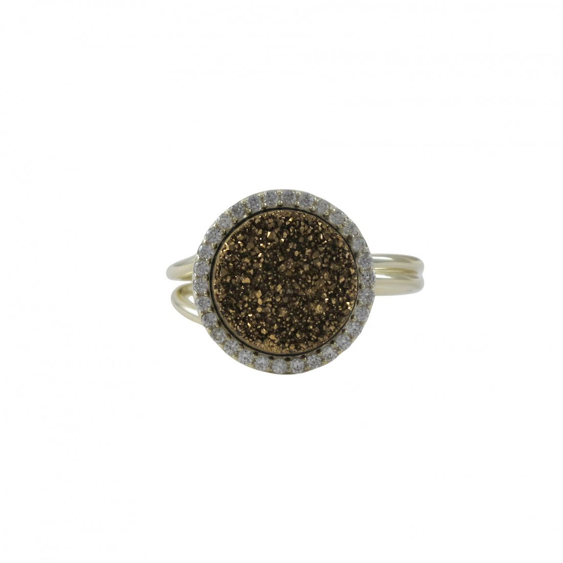Gold Plated Sterling Silver, 15mm Round Circle, 12mm Ch