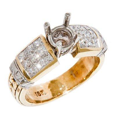 18KYG BAG DIAMOND SEMI-MOUNT 11.3 GRAMS