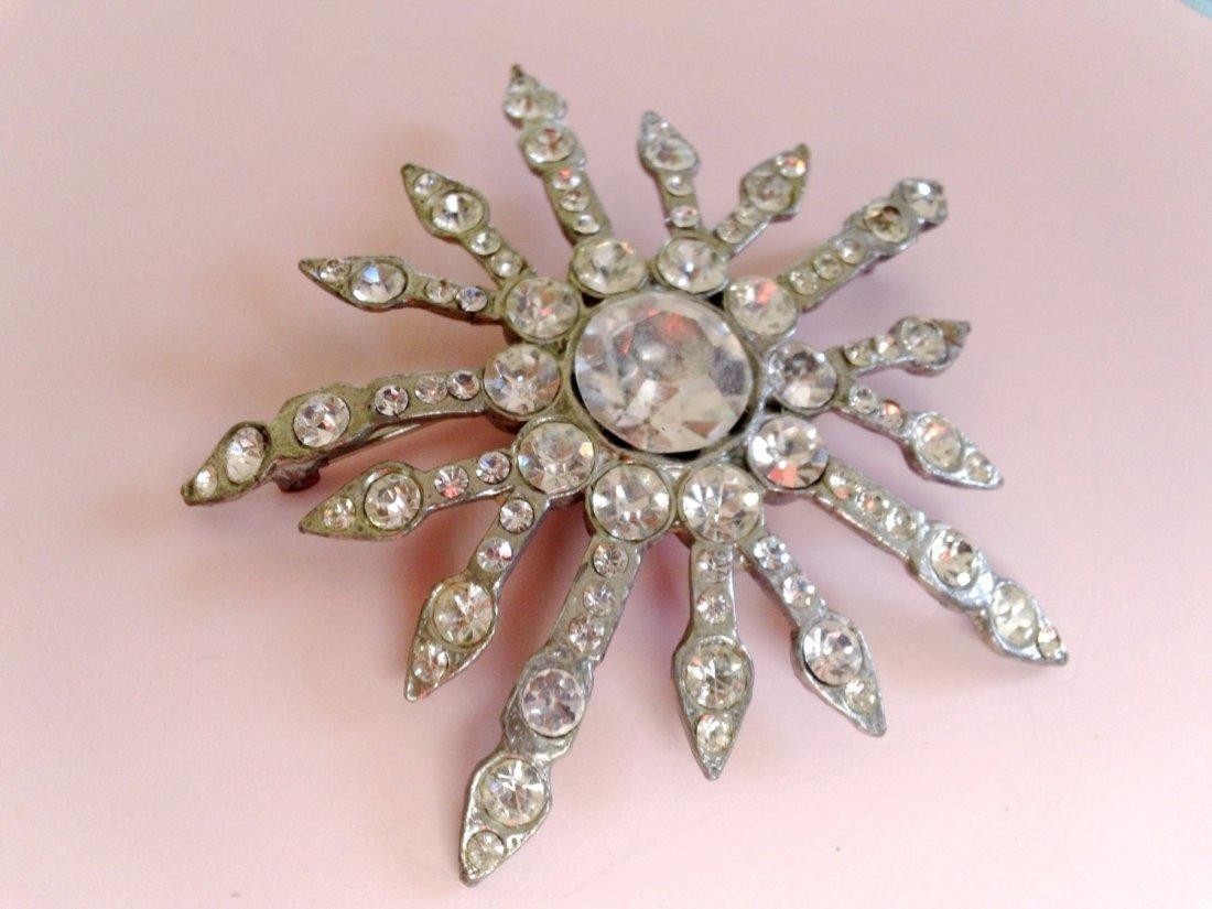 Vintage Schreiner Domed Star Brooch...;This is a true o