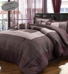 12pc VIO. Purple/Plum Luxury Size: Queen Sheet Set Colo