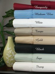 1000TC Striped Cal King Egyptian Cotton Waterbed Sheets