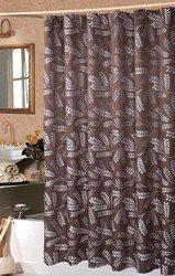 "Brookdale Luxury Chocolate Shower Curtain 72x72"""
