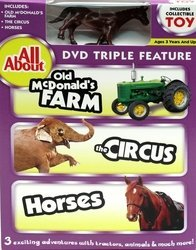 All About Old McDonald's Farm-Circus-Horses DVD w Colle