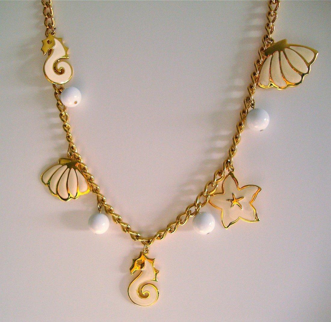 Vintage Napier charm necklace....;This is such an unusu