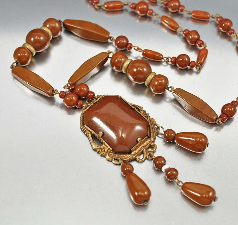 Beautiful rich chocolate brown glass beads form this st