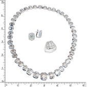 18K DIAMOND NECKLACE EARRING & RING SET 18K DIAMOND NEC - 2
