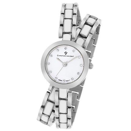 Stainless steel case, Stainless steel bracelet, White d