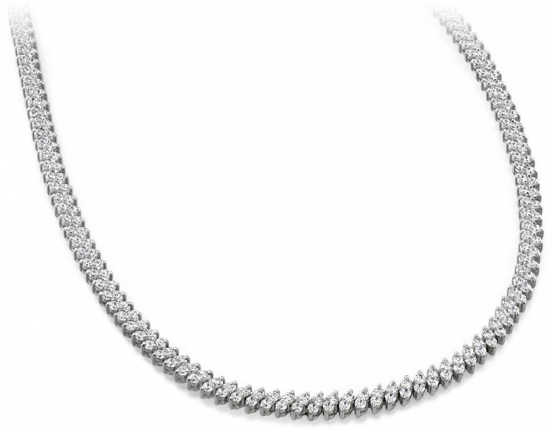14KT Gold 10 ct Diamond Neckless Featuring 25 Grams of