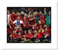 2010 Team Spain Double Matted 8x10 Photograph World Cup