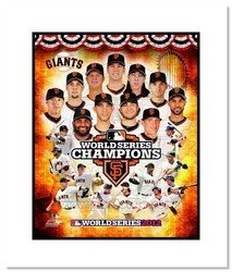 2012 San Francisco Giants MLB Double Matted 8x10 Photog