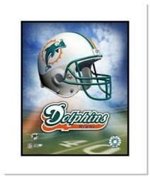 Miami Dolphins NFL Double Matted 8x10 Photograph Team L