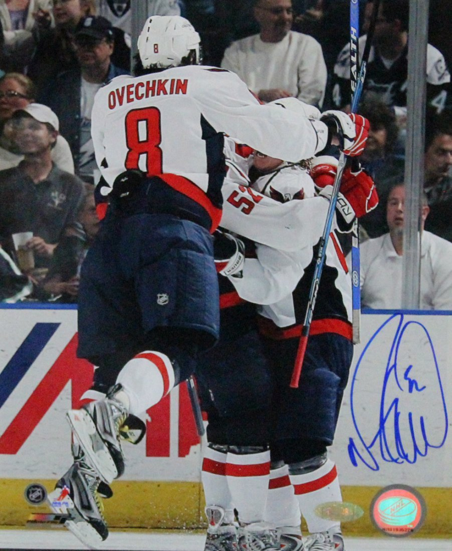 Mike Green Celebration w/ Ovechkin 8x10 Photo
