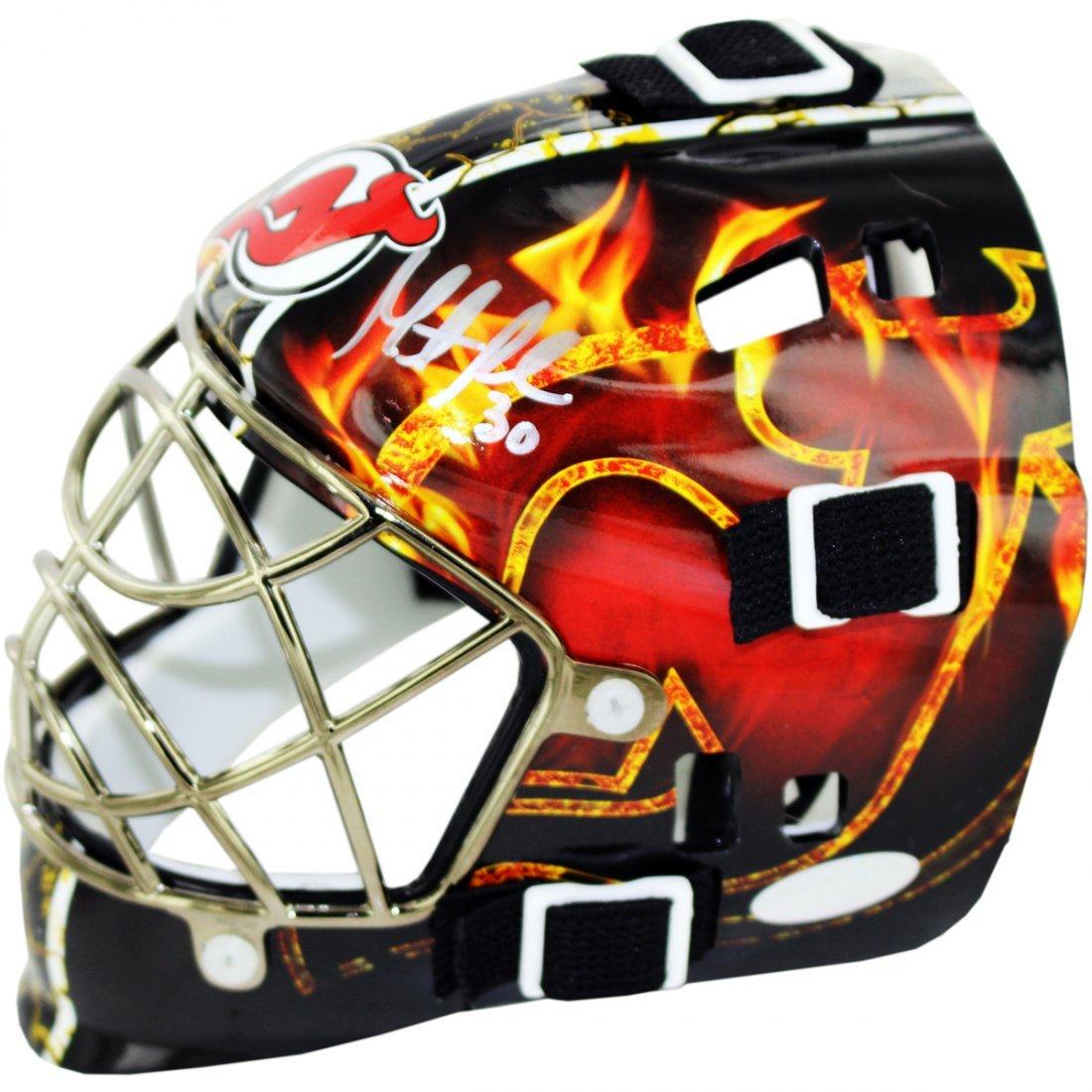 Martin Brodeur Signed Devils Flame Mini Helmet