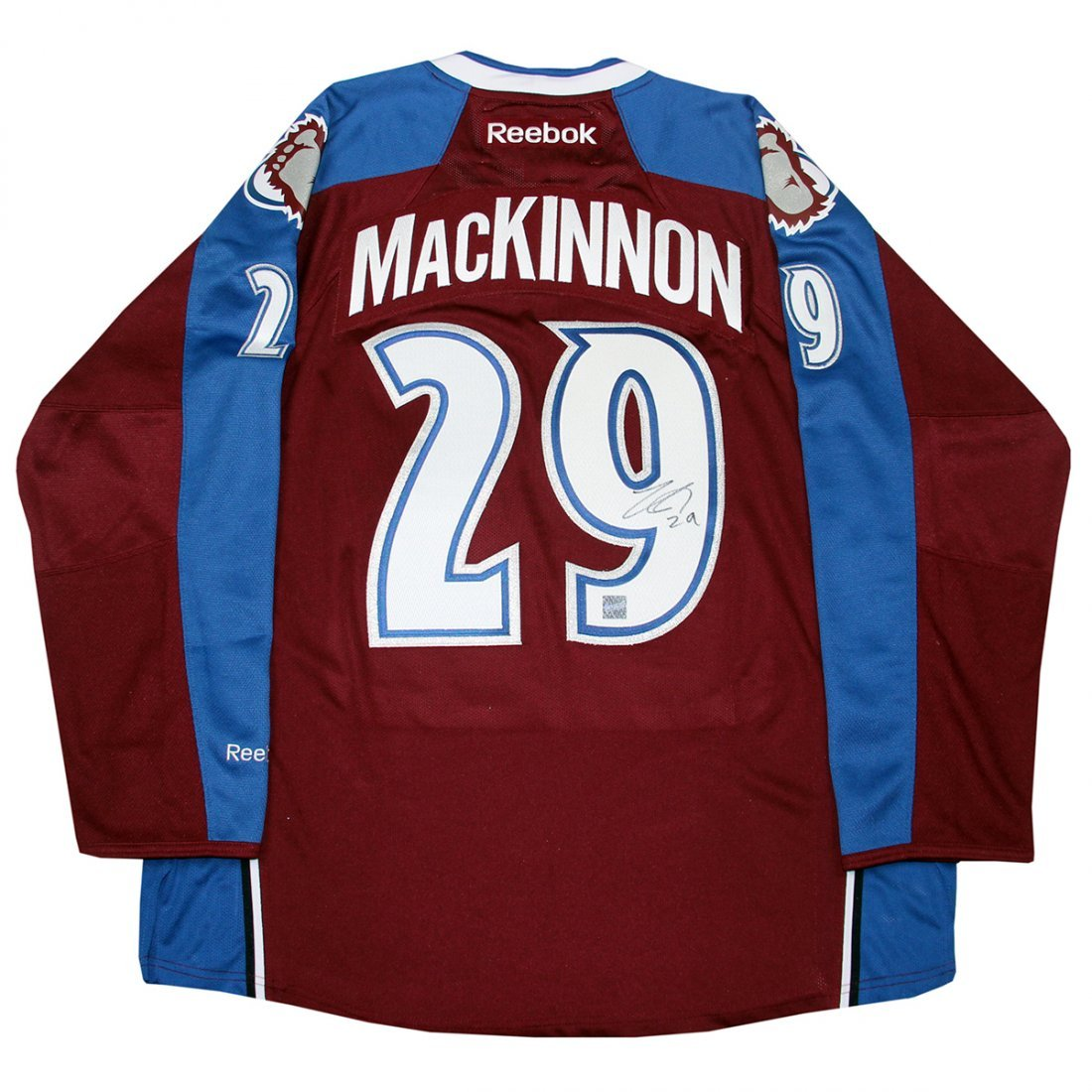 Nathan MacKinnon Signed Avalanche Maroon Premier Jersey