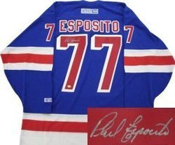 Phil Esposito New York Rangers NHL Hand Signed Authenti