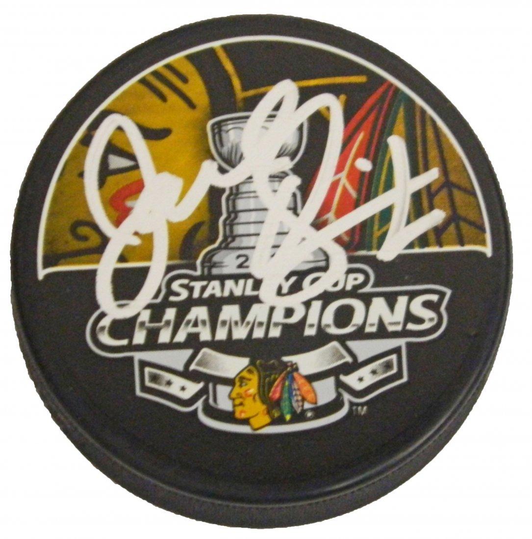 Joel Quenneville signed Chicago Blackhawks 2013 Stanley