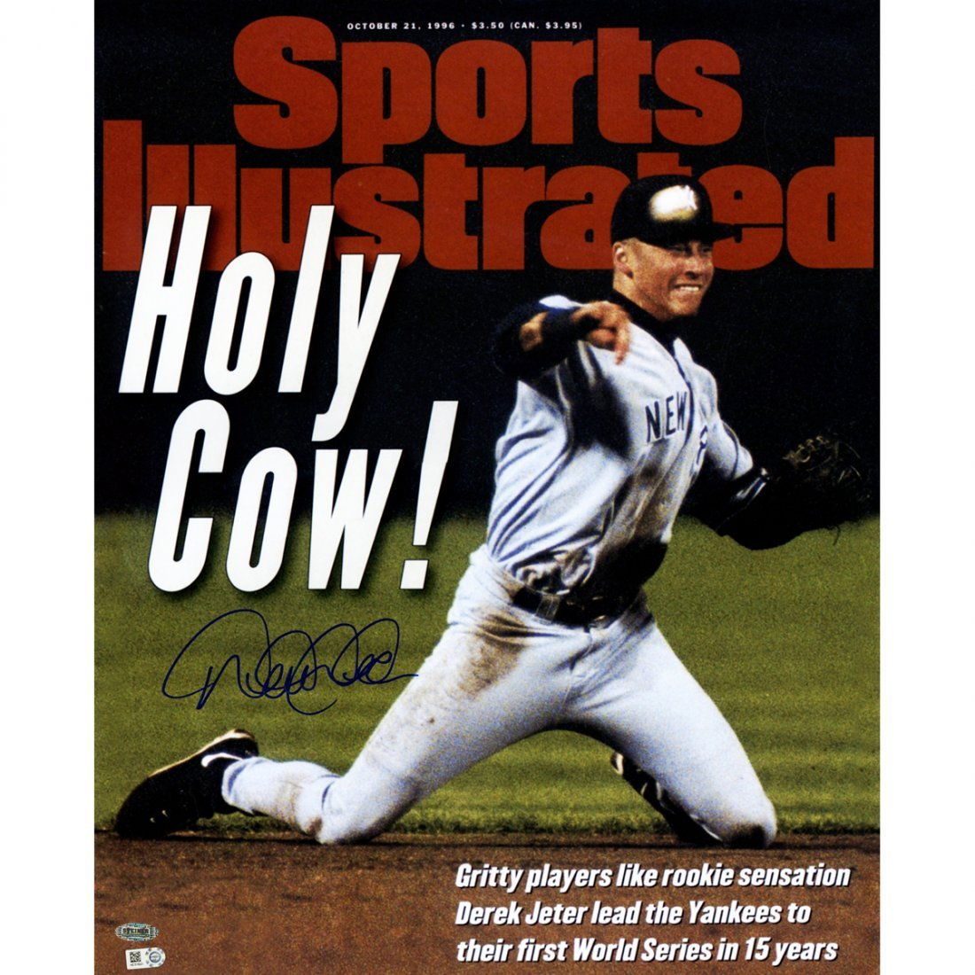 """Derek Jeter Signed """"Holy Cow"""" Sports Illustrated 16x20"""