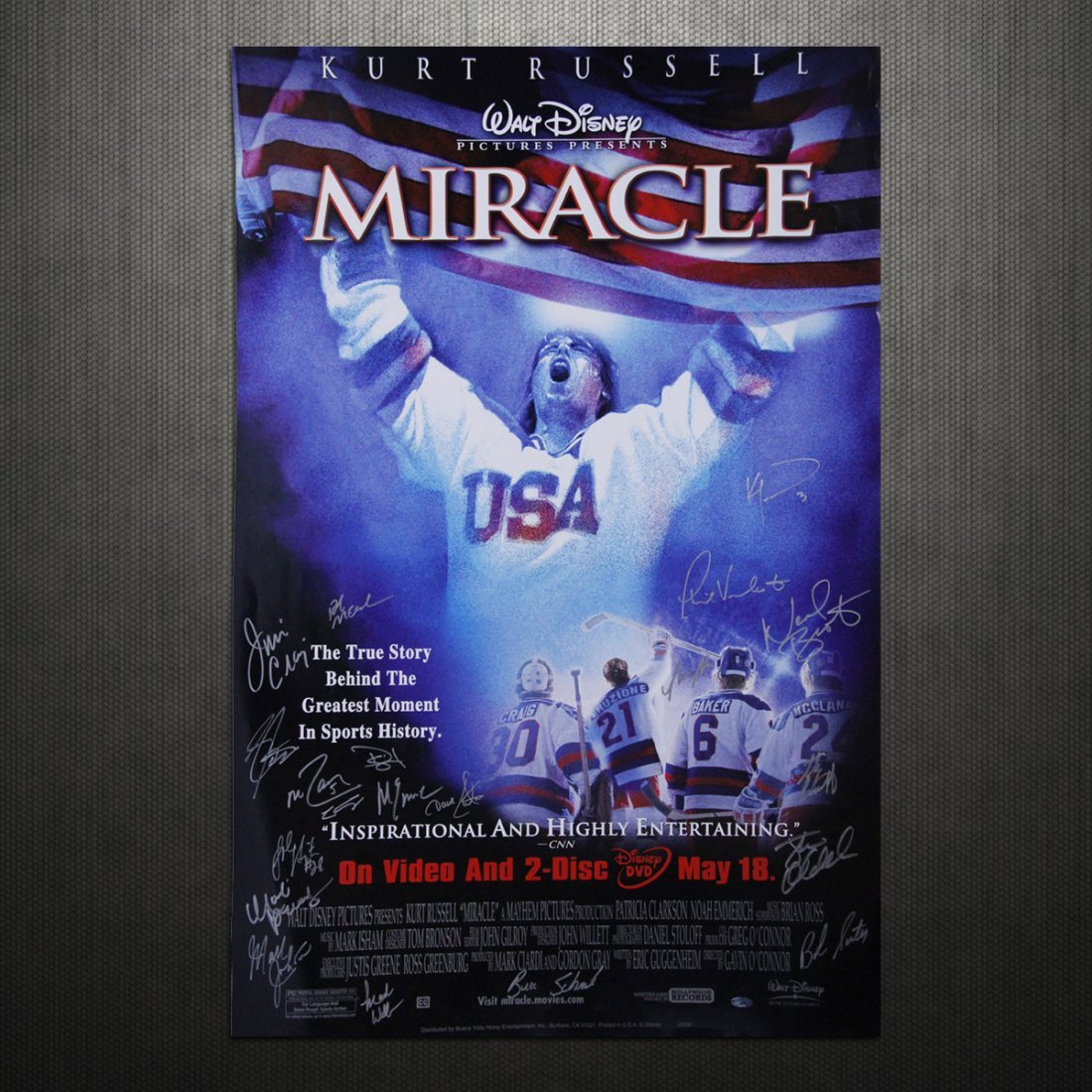 1980 USA Hockey Multi Signed 26x40 Miracle Poster (20 S