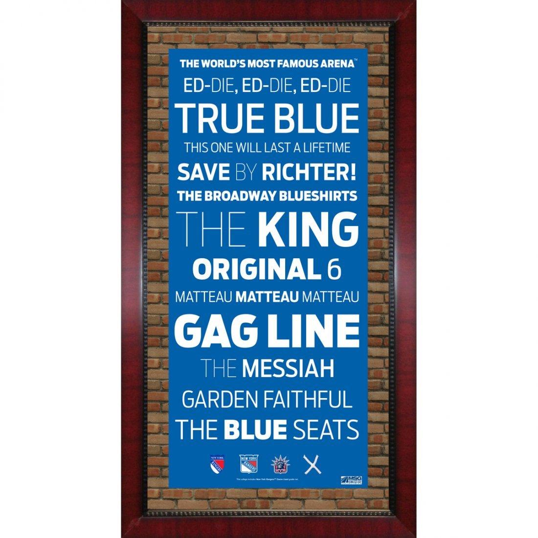 New York Rangers Subway Sign Framed 16x32 Photo w/Game