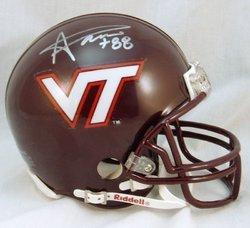 Andre Davis NCAA Virginia Tech Hokies Hand Signed Mini
