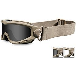 Spear Goggles, Tan Frame, Smoke Gray/Clear Lens
