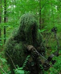 Synthetic Ultra-Light Ghillie Bow Hunting Jacket Right