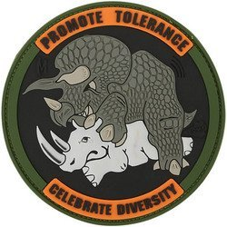 Promote Tolerance Patch, Full Color, 3 x 3