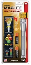 Maglite 2 AA Grey LED w/ Nylon Sheath