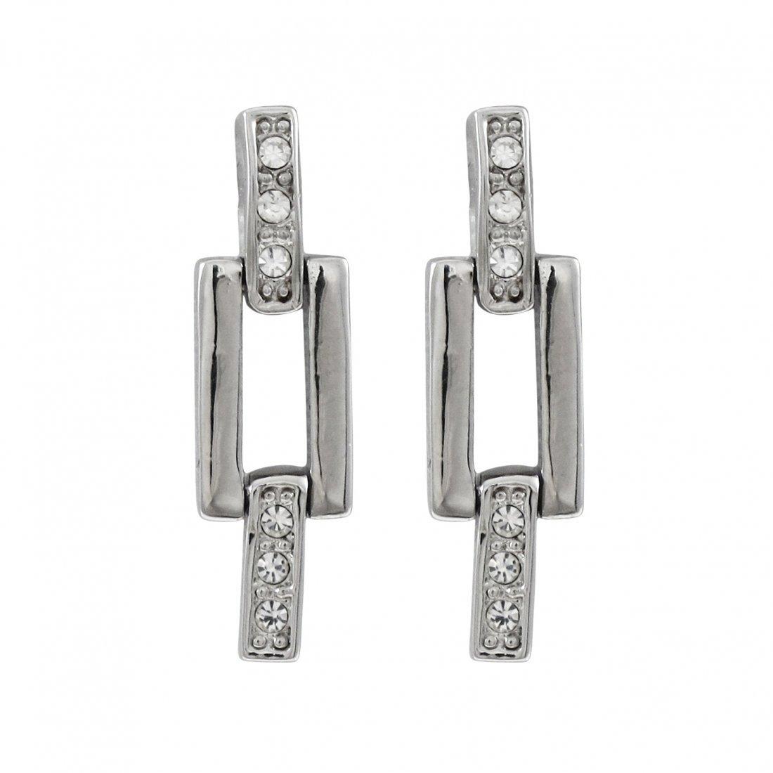 silver plated pierced earrings