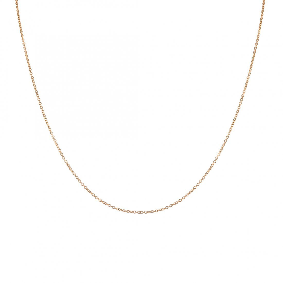Rose Plated Sterling Silver Link Chain 16