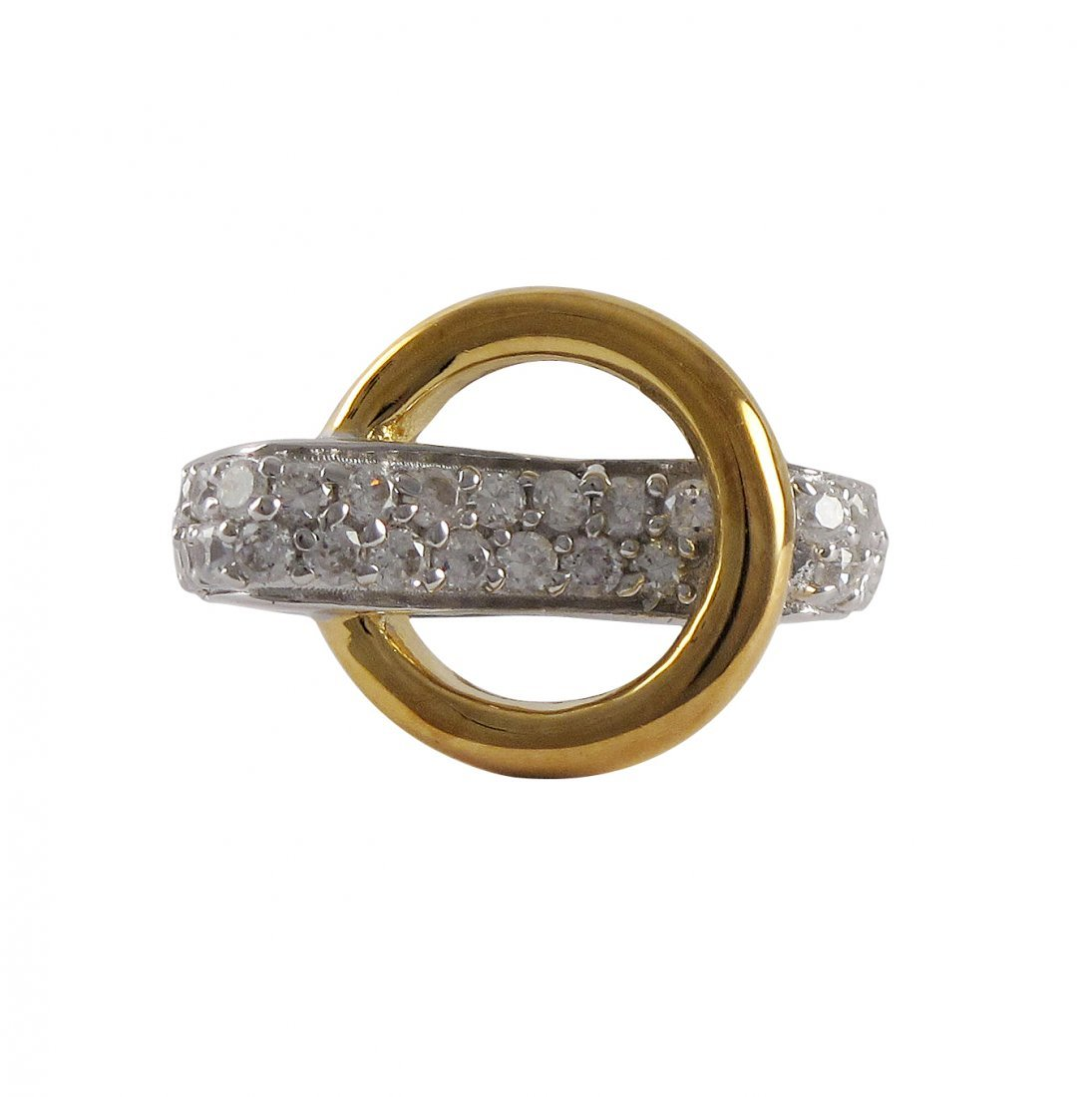 Sterling Silver-Two Tone Ring