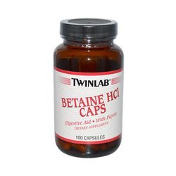 Twinlab Betaine HCl Caps - 100 Capsules