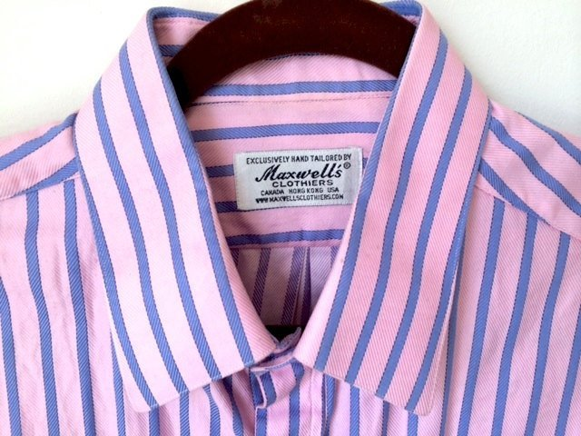 Maxwell's Clothiers Pink & Blue Button Down....;Fabulou