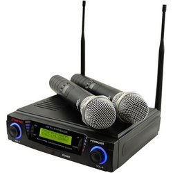 Wireless Professional UHF Dual Channel Microphone Syste