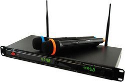 Professional UHF Wireless Microphone System With 2 Micr