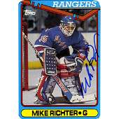 Mike Richter Signed 199091 Topps Rookie Card 330